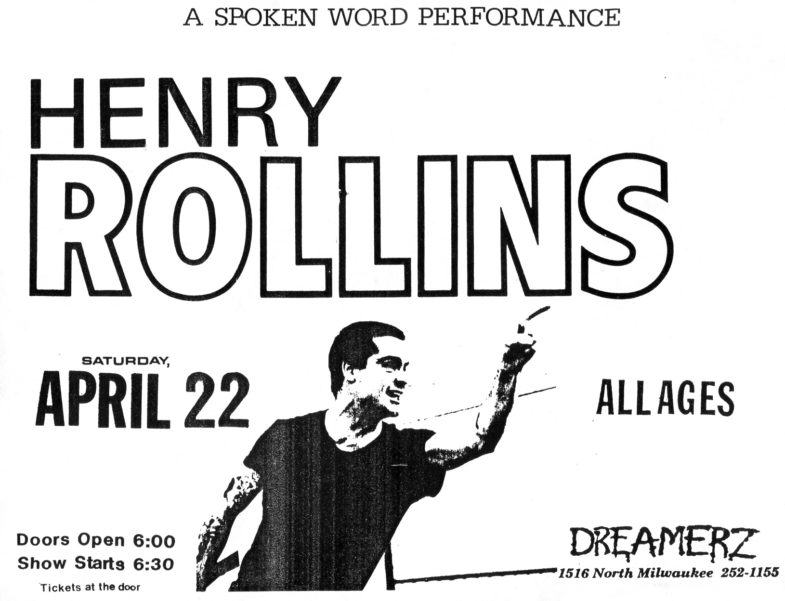 Henry Rollins @ Chicago IL 4-22-89