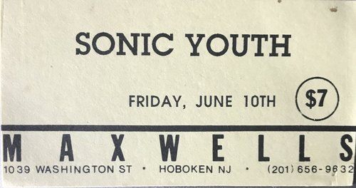 Sonic Youth @ Hoboken NJ 6-10-89