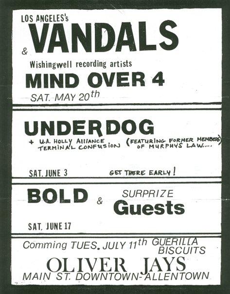 Underdog-Unholy Alliance-Terminal Confusion @ Allentown PA 6-3-89