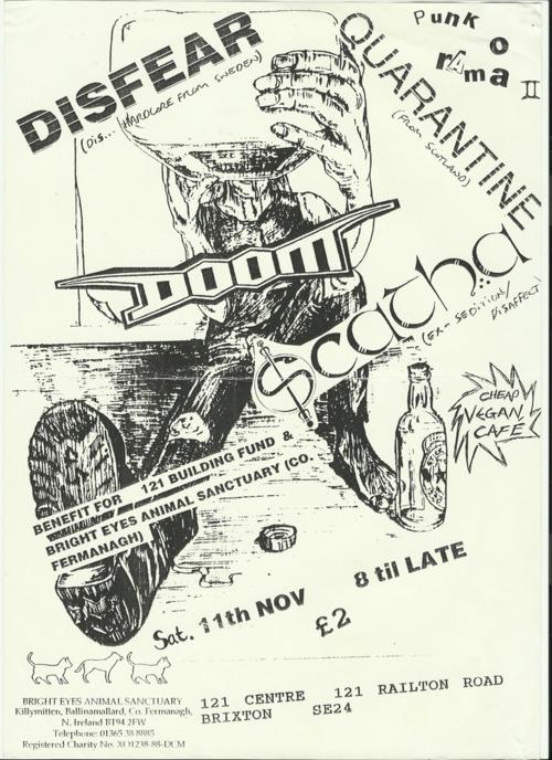Disfear-Doom-Scatha-Quarantine @ Brixton England 11-11-89