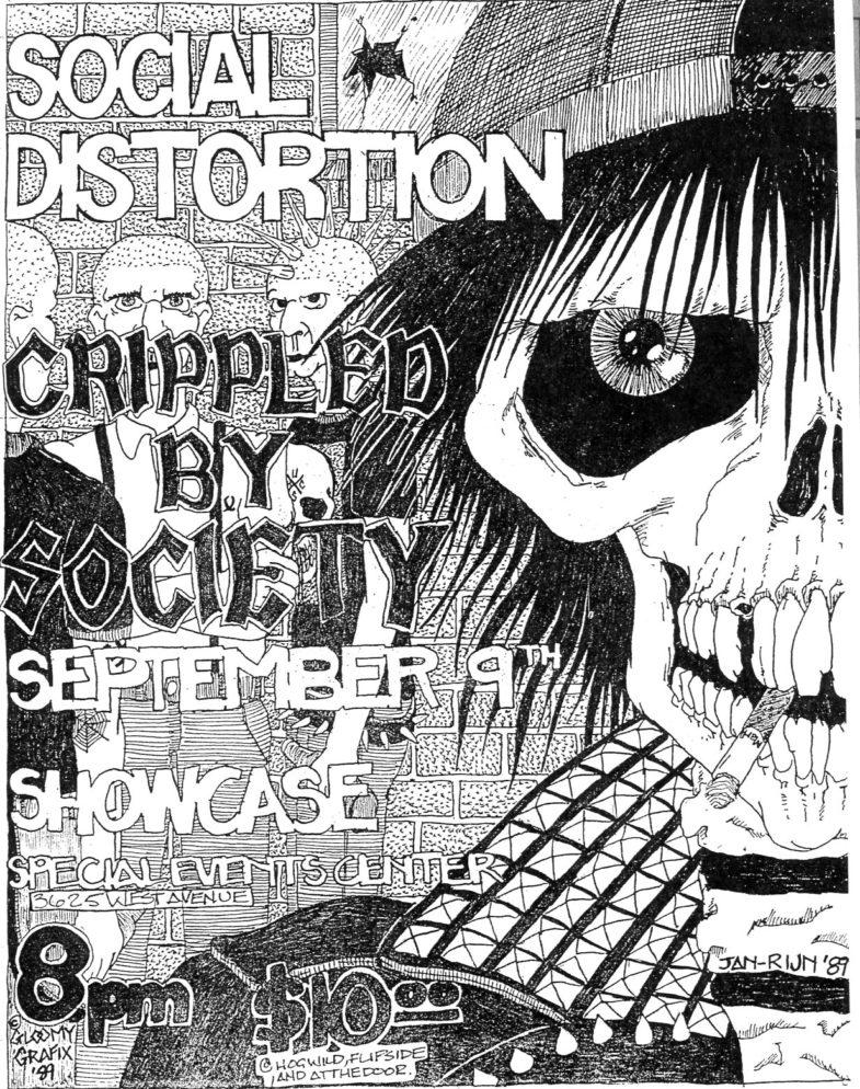Social Distortion-Crippled By Society @ San Antonio TX 9-9-89