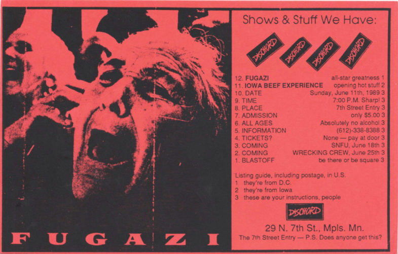Fugazi @ Minneapolis MN 6-11-89
