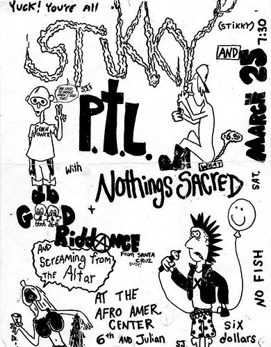 Stikky-Nothings Sacred-Good Riddance @ Santa Cruz CA 3-25-89