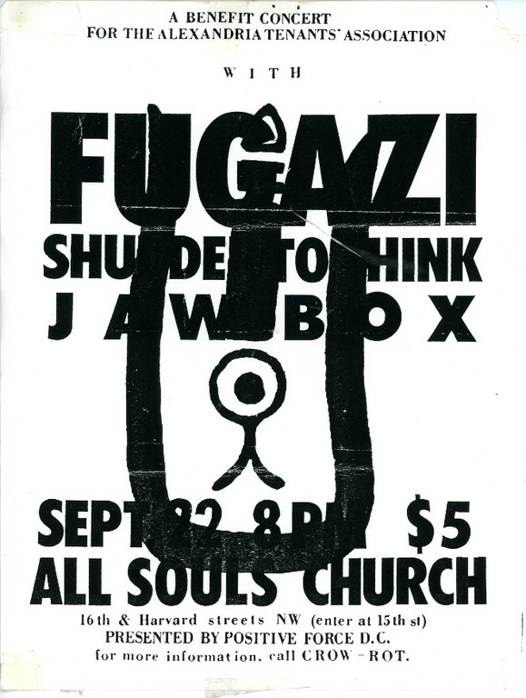 Fugazi-Shudder To Think-Jawbox @ Washington DC 9-22-89