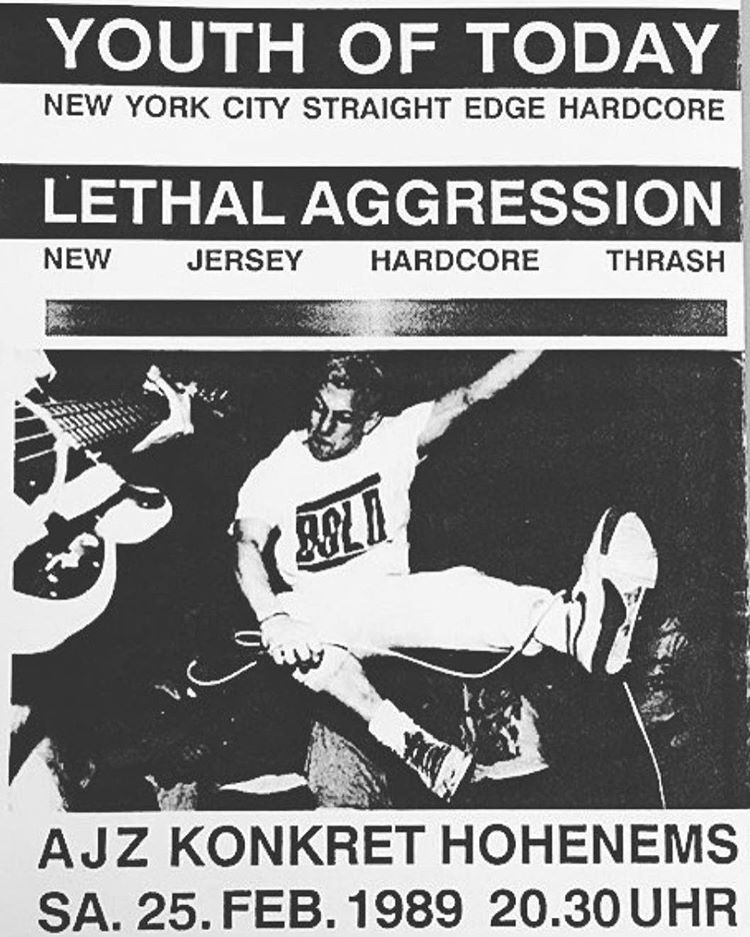 Youth Of Today-Lethal Aggression @ Hohenemes Austria 2-25-89