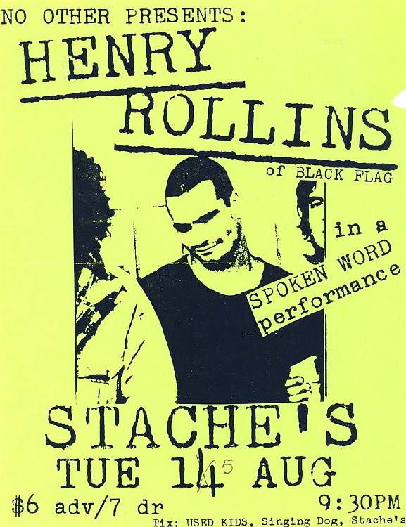 Henry Rollins @ Chicago IL 8-15-89