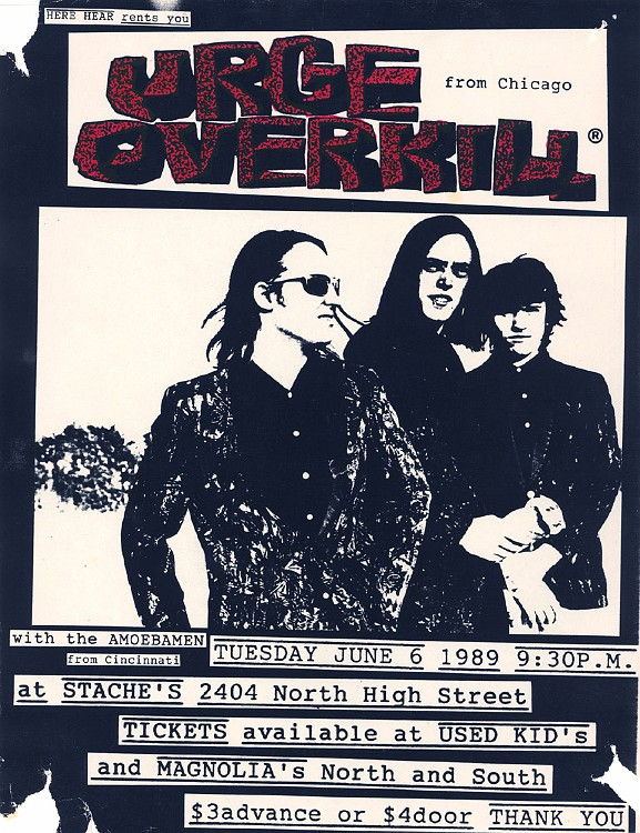 Urge Overkill @ Chicago IL 6-6-89