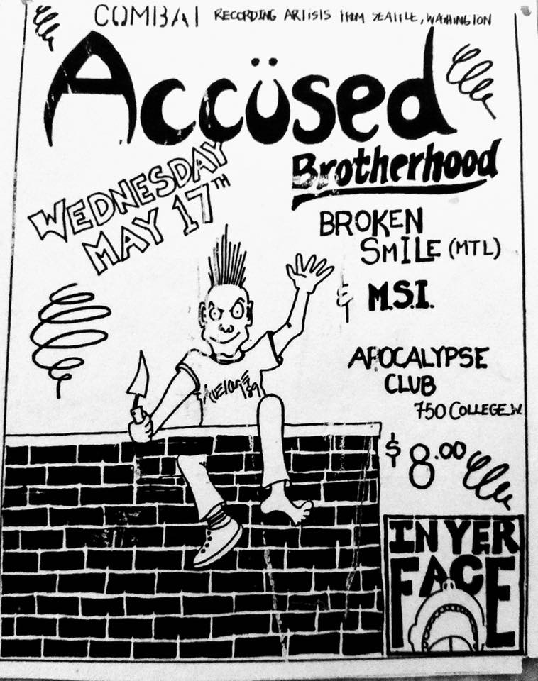 Accused-Brotherhood-Broken Smile-MSI @ Toronto Canada 5-17-89