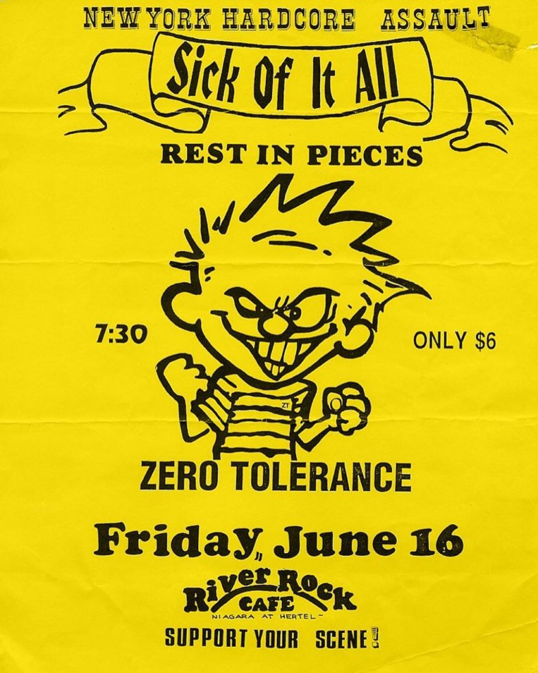 Sick Of It All-Rest In Pieces-Zero Tolerance @ Buffalo NY 6-16-89