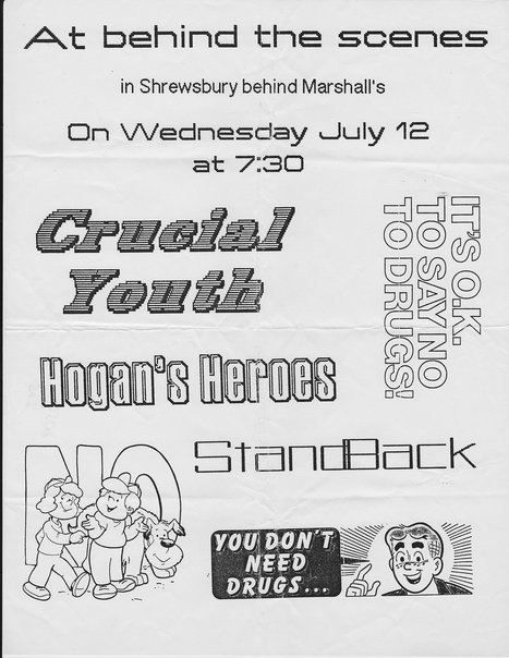 Crucial Youth-Hogans Heroes-Stand Back @ Shrewsbury NJ 7-12-89