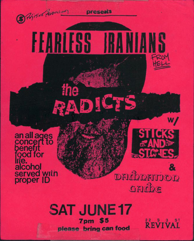 Fearless Iranians From Hell-The Radicts-Sticks & Stones @ Philadelphia PA 6-17-89