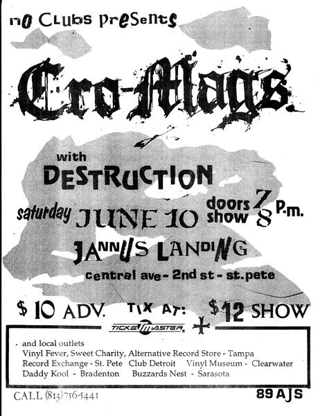 Cro Mags-Destruction @ St. Petersburg FL 6-10-89