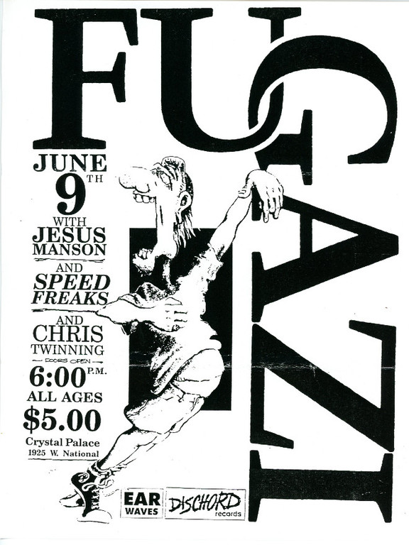 Fugazi-Jesus Manson-Speed Freaks-Chris Twinning @ Milwaukee WI 6-9-89