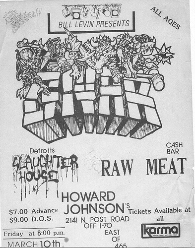 Gwar-Slaughter House-Raw Meat @ Indianapolis IN 3-10-89