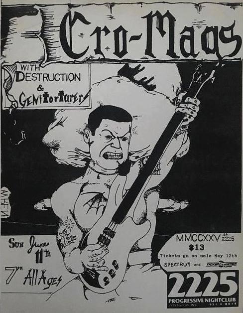 Cro Mags-Destruction-Genitorturers @ Charlestown SC 6-11-89