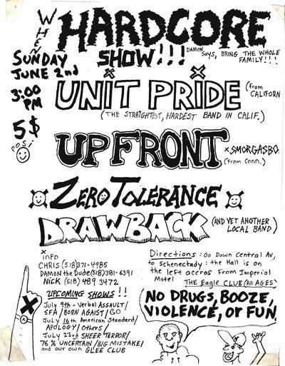Unit Pride-Up Front-Zero Tolerance-Draw Back @ Schenectady NY 6-2-89