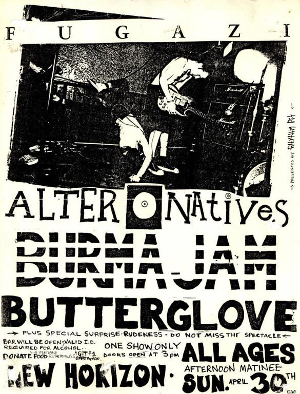 Fugazi-Alternatives-Burma Jam-Butter Glove @ Syracuse NY 4-30-89