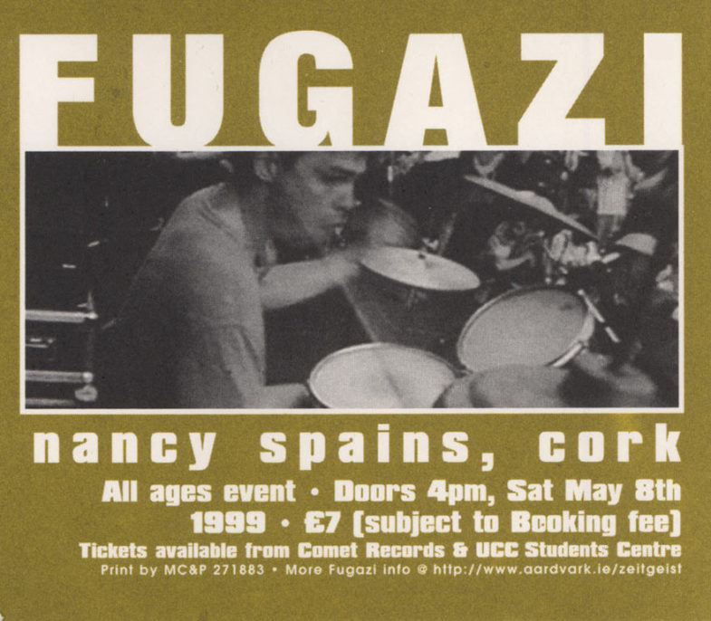 Fugazi-Nancy Spains-Cork @ Glasgow Scotland 5-8-99