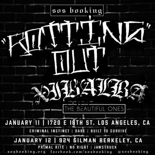 Rotting Out-Primal Rite-No Right-Jawstruck @ Berkeley CA 1-12-19