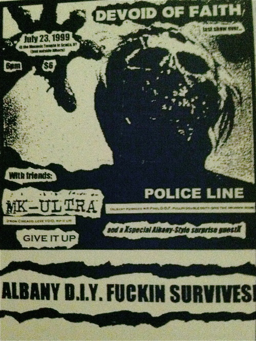 Devoid Of Faith-MK Ultra-Give It Up-Police Line @ Albany NY 7-23-99
