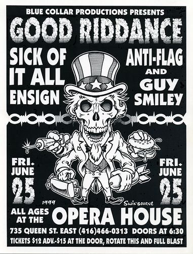 Good Riddance-Sick Of It All-Ensign-Anti Flag-Guy Smiley @ Toronto Canada 6-25-99