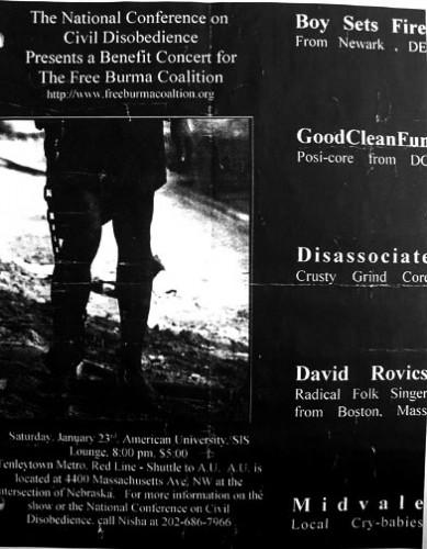 Boy Sets Fire-Good Clean Fun-Disassociate-Midvale @ Washington DC 1-23-99