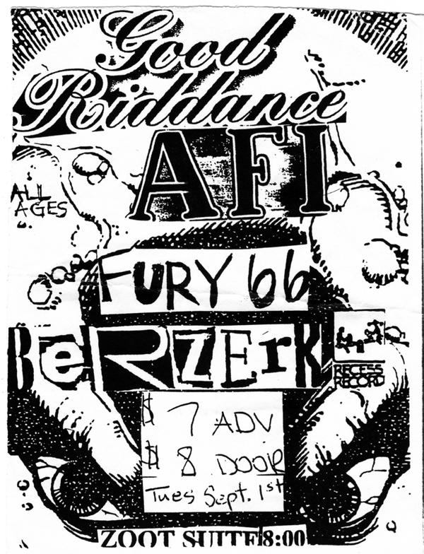 Good Riddance-AFI-Fury 66-Berzerker @ 9-1-99