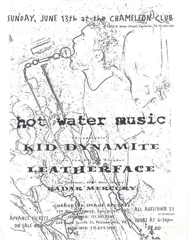 Hot Water Music-Kid Dynamite-Leatherface-Radar Mercury @ Philadelphia PA 6-13-99