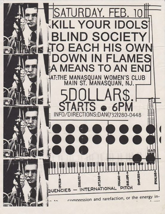 Kill Your Idols-Blind Society-To Each His Own-Down In Flames-A Means To An End @ Manasquan NJ 2-10-99