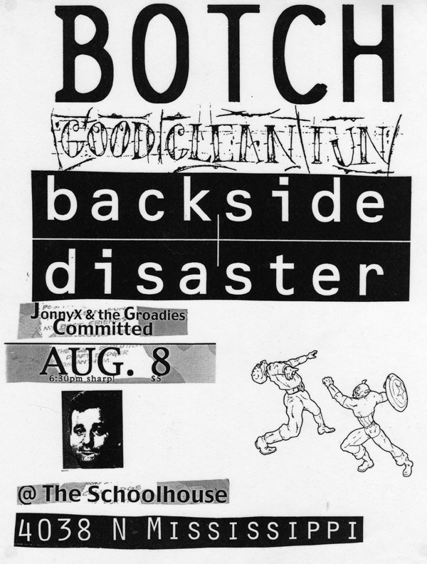 Botch-Good Clean Fun-Backside Disaster @ Portland OR 8-8-99