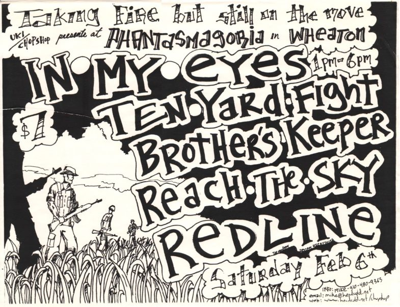 In My Eyes-Ten Yard Fight-Brother's Keeper-Reach The Sky-Red Line @ Wheaton MD 2-6-99