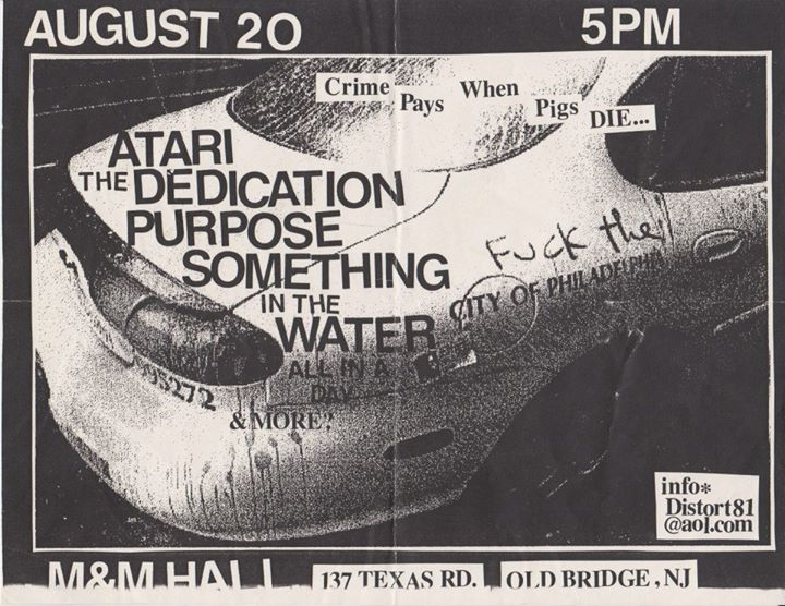 Atari-The Dedication-The Purpose-Something In The Water @ Old Bridge NJ 8-20-99