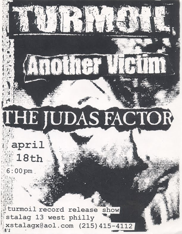Turmoil-Another Victim-The Judas Factor @ Philadelphia PA 4-18-99