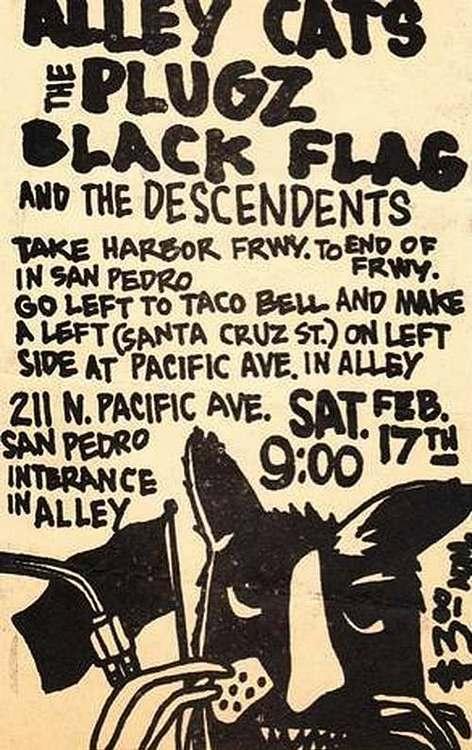 Alley Cats-The Plugz-Black Flag-Descendents @ San Pedro CA 2-17-79