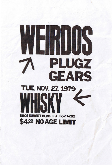 The Weirdos-Plugz-Gears @ Los Angeles CA 11-27-79