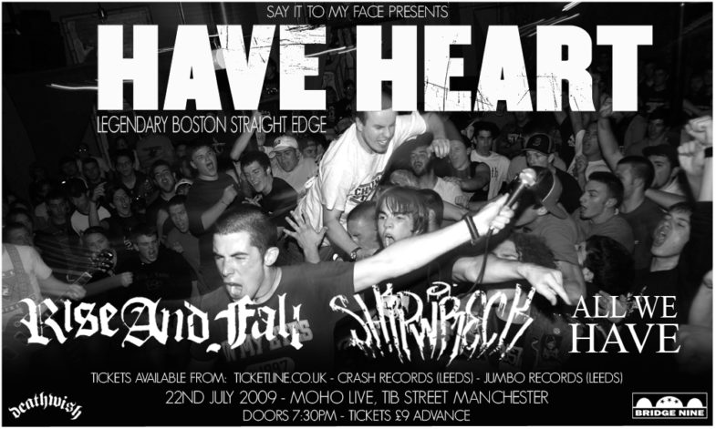 Have Heart-Rise & Fall-Shipwreck-All We Have @ Manchester England 7-22-09