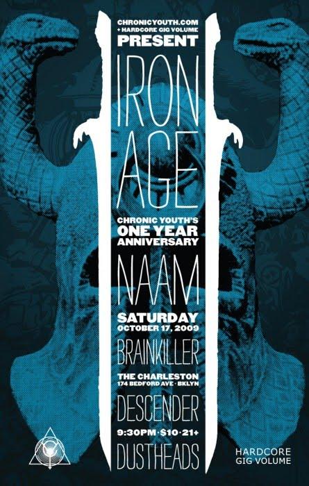 Iron Age-Naam-Brain Killer-Descender-Dust Heads @ Brooklyn NY 10-17-09