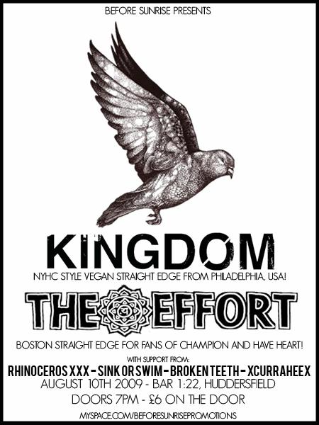 Kingdom-The Effort-Rhinoceros-Sink Or Swim-Broken Teeth-Currahee @ Huddersfield England 8-10-09