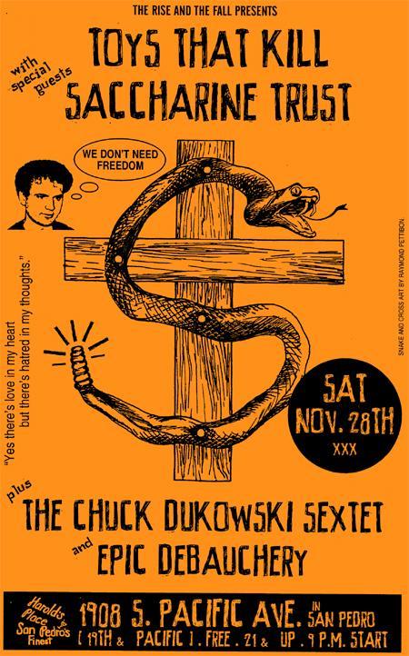 Toys That Kill-Saccharine Trust-Chuck Dukowski Sextet-Epic Debauchery @ San Pedro CA 11-28-09