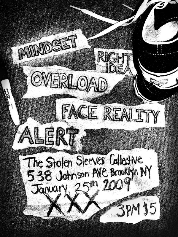 Mindset-Right Idea-Overload-Face Reality-Alert @ Brooklyn NY 1-25-09