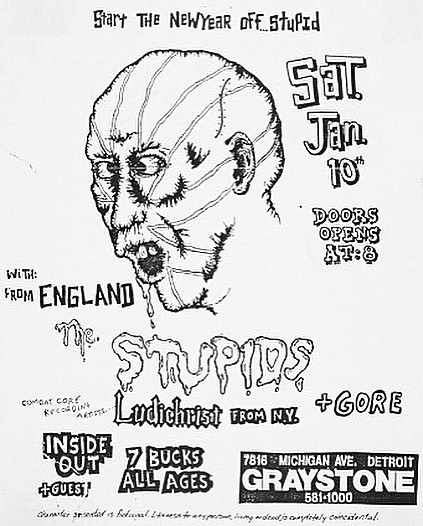 The Stupids-Ludichrist-Inside Out @ Detroit MI 1-10-87