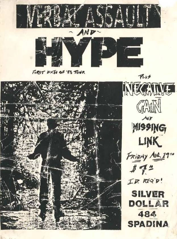 Verbal Assault-Hype-Negative Gain-Missing Link @ Toronto Canada 8-19-88