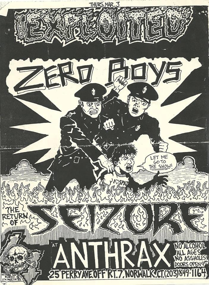 Exploited-Zero Boys-Seizure @ Norwalk CT 3-3-88