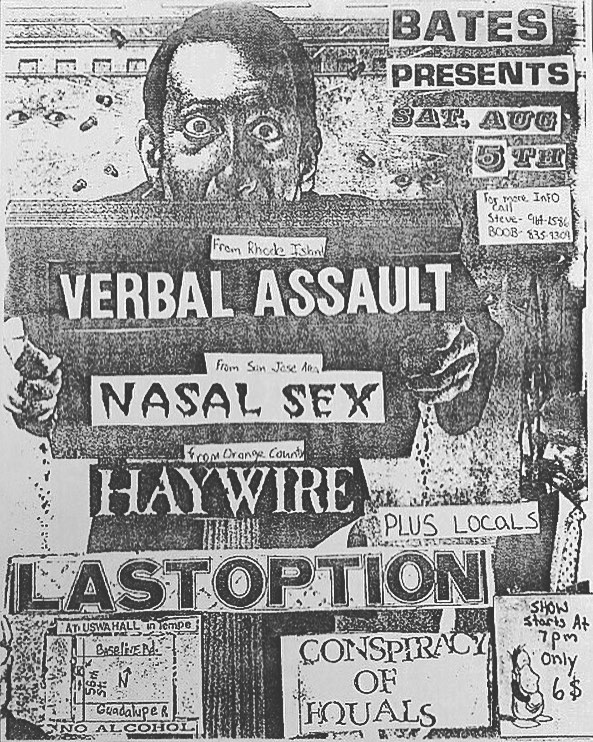 Verbal Assault-Nasal Sex-Haywire-Last Option @ Phoenix AZ 8-5-89