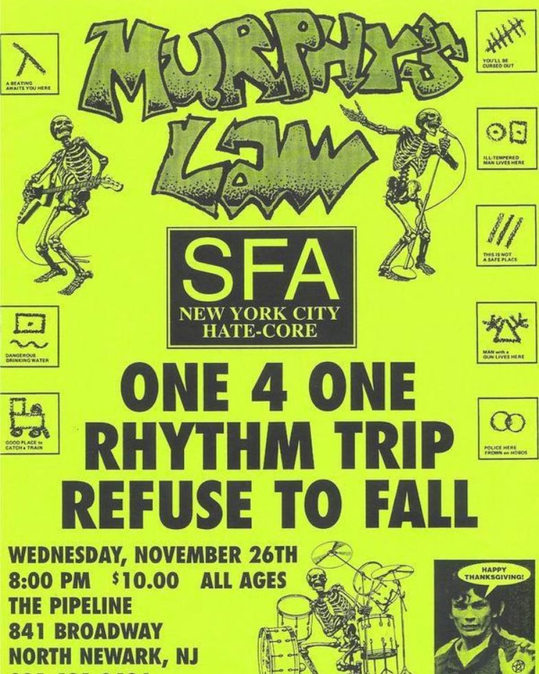 Murphy's Law-SFA-One 4 One-Rhythm Trap-Refuse To Fall @ Newark NJ 11-26-97
