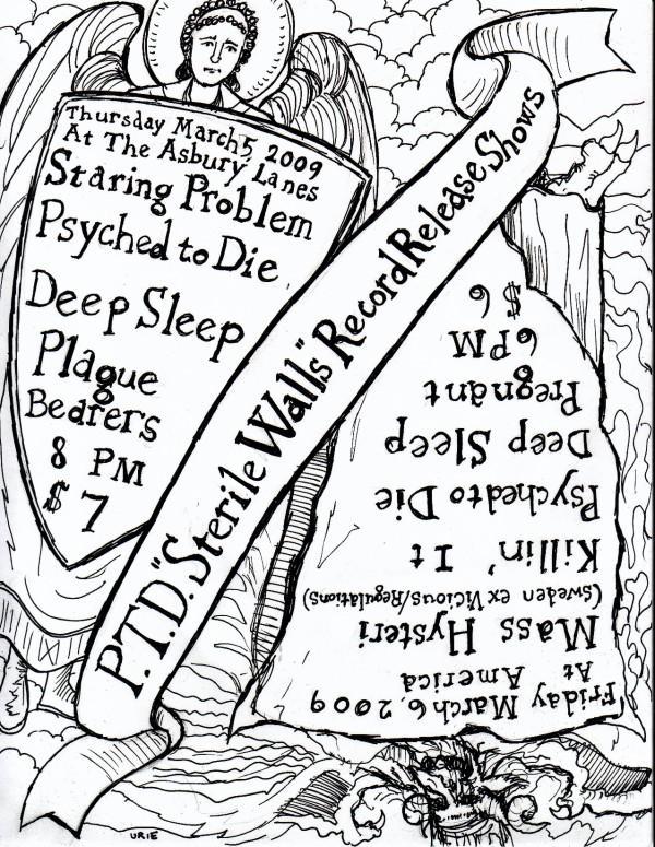 Staring Problem-Psyched To Die-Deep Sleep-Plague Bearers @ Asbury Park NJ 3-5-09
