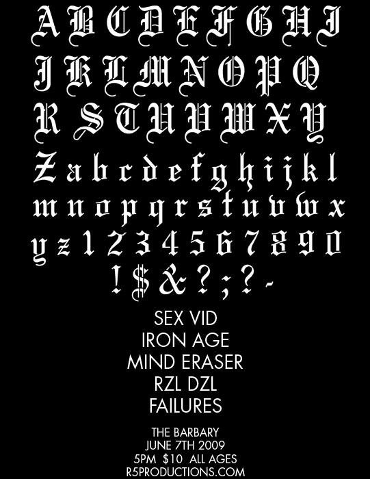 Sex Vid-Iron Age-Mind Eraser-Rzl Dzl-Failures @ Philadelphia PA 6-7-09