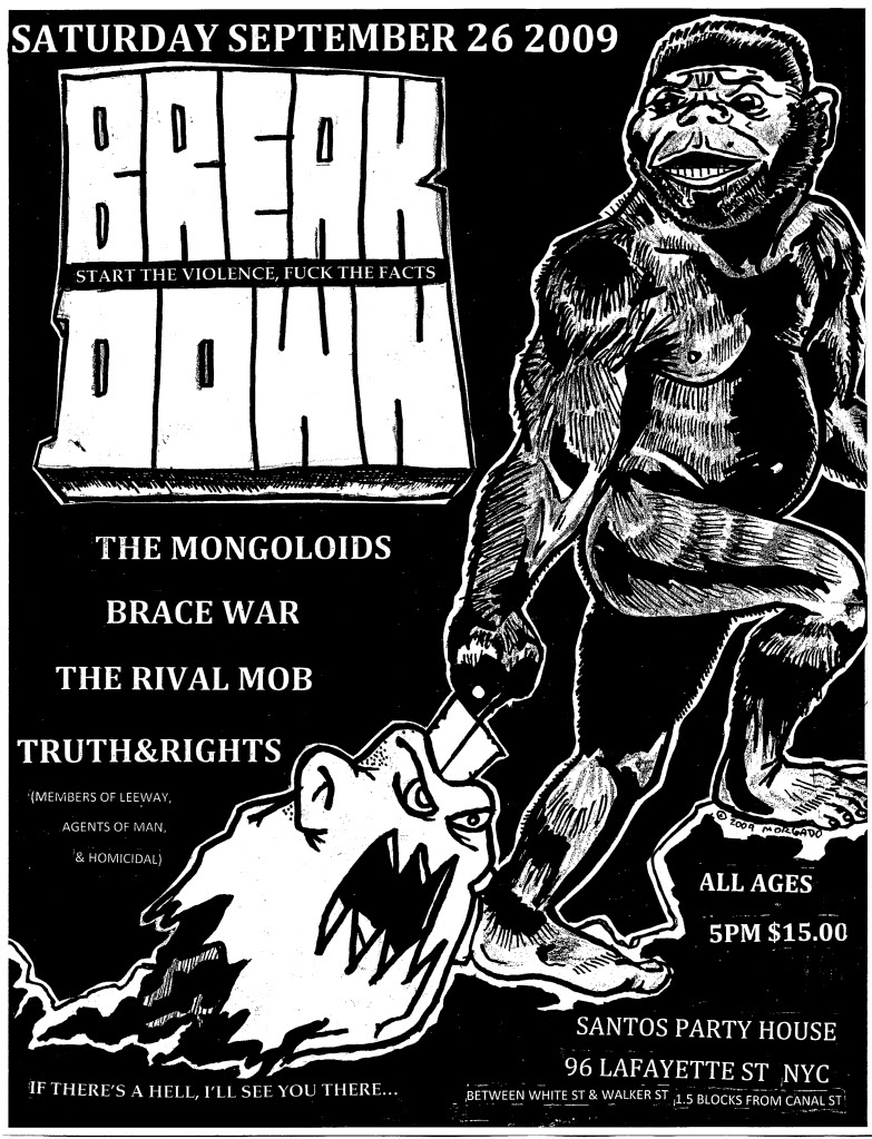 Breakdown-The Mongoloids-Brace War-The Rival Mob-Truth & Rights @ New York City NY 9-26-09