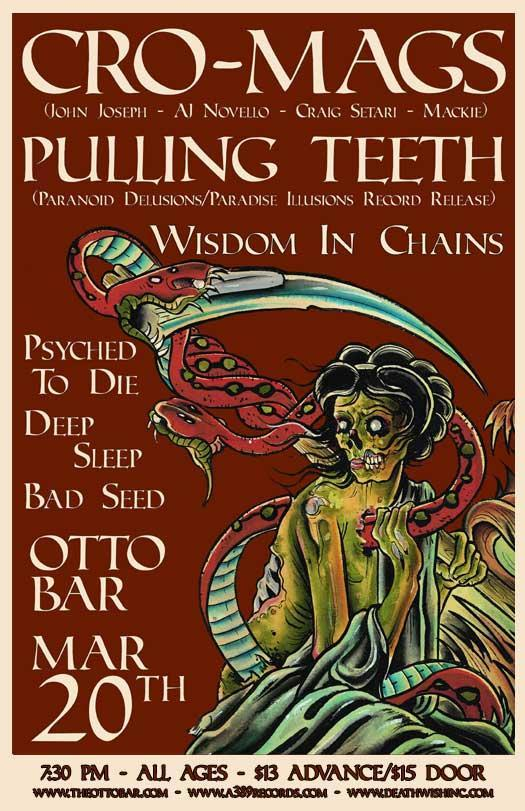 Cro Mags-Pulling Teeth-Wisdom In Chains-Psyched To Die-Deep Sleep-Bad Seed @ Baltimore MD 3-20-09