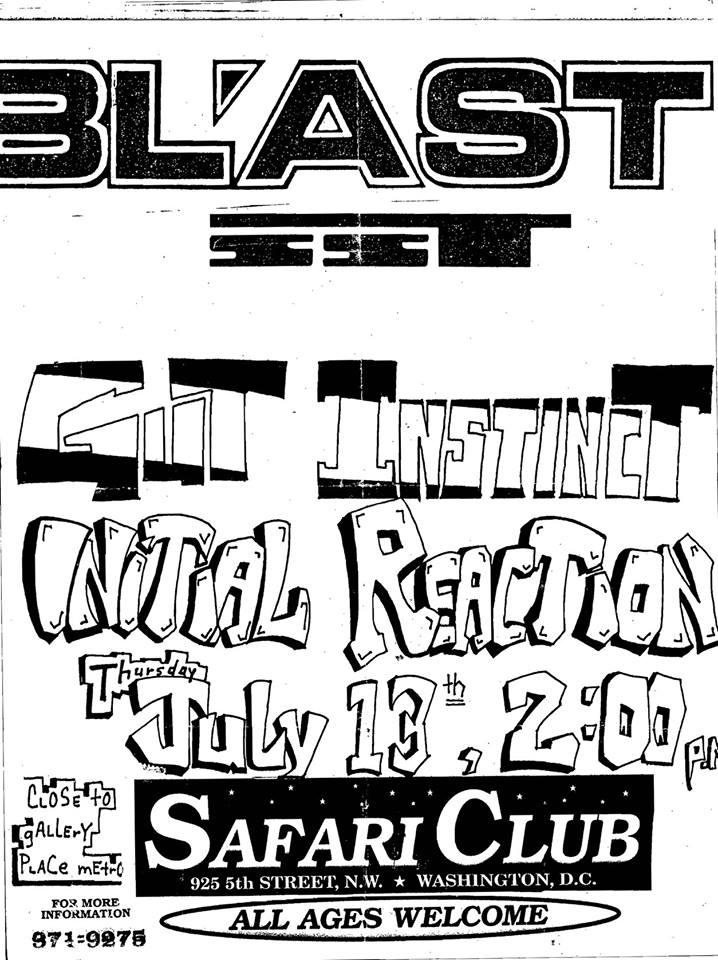 Bl'ast!-Gut Instinct-Initial Reaction @ Washington DC 7-13-89